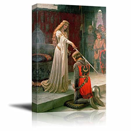 wall26 – The Accolade by Edmund Leighton – Canvas Print Wall Art Famous Painting Reproduction – 24 x 36