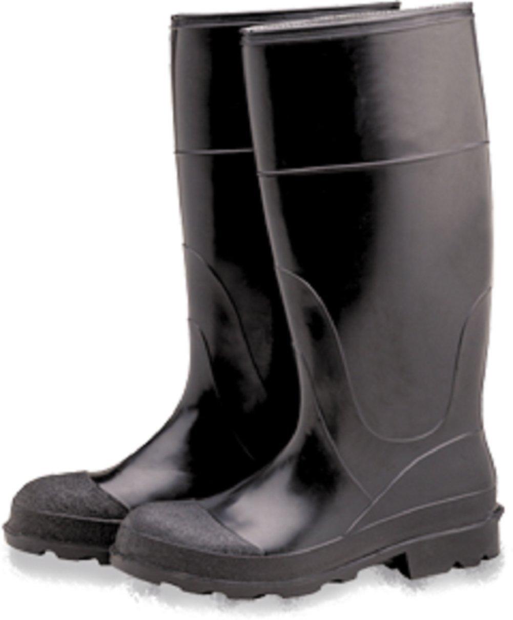 "Industrial PVC Knee Rubber Boots, Plain Toe 16"", Size 7"