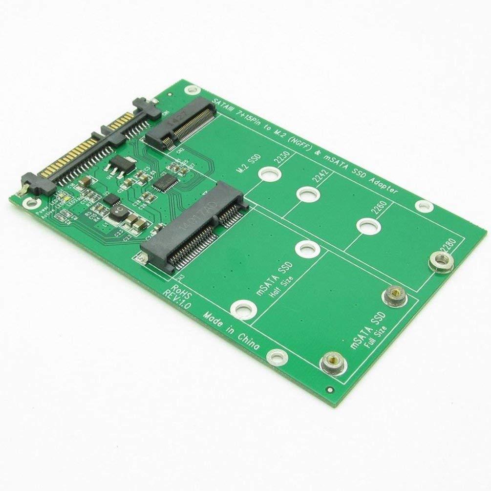 15 Pines a mSATA y NGFF SSD M.2 convertidor Adaptador Mini PCI-E Combo con Tarjeta Hehilark Disco Duro USB 3.0 de 7