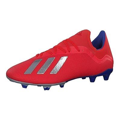 0e14f498d adidas Men's X 18.3 Fg Football Boots, Multicolour (Rojact/Plamet/Azufue 000