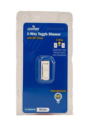 Leviton 6643 w 600w incandescent toggle dimmer 3 way white leviton 6643 w 600w incandescent toggle dimmer 3 way white sciox Choice Image