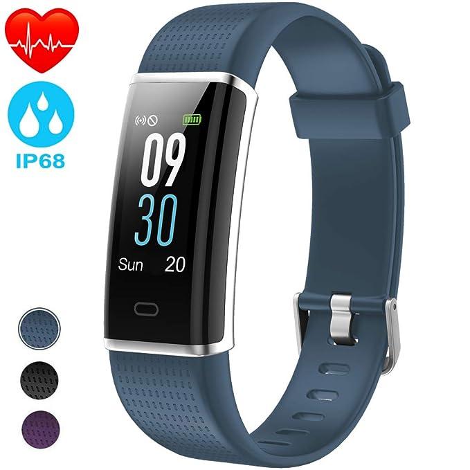 NAIXUES Pulsera Actividad Impermeable IP68, Pulsera Inteligente con Pantalla Color GPS Pulsómetro Monitor Ritmo Cardíaco y Sueño 14 Modos de Deporte para ...