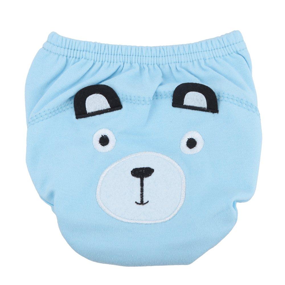 Pantalones de entrenamiento para bebé paño lavable reutilizable para bebé pañales bebés pañales rosa rosa Talla:0-6 M Domybest