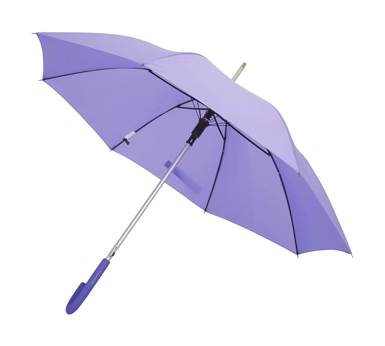 TAHARI Automatic Open Aluminum Shaft Rubberized Grip Handle Umbrella (Violet) by TAHARI