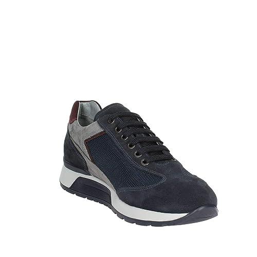 dc5b9a75c196 Nero Giardini Uomo Sneaker A800468U Blu Scarpa in camoscio Autunno Inverno  2019 EU 41