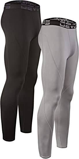DEVOPS Boys 2 Pack Thermal Heat-Chain Compression Baselayer Long Johns Pants
