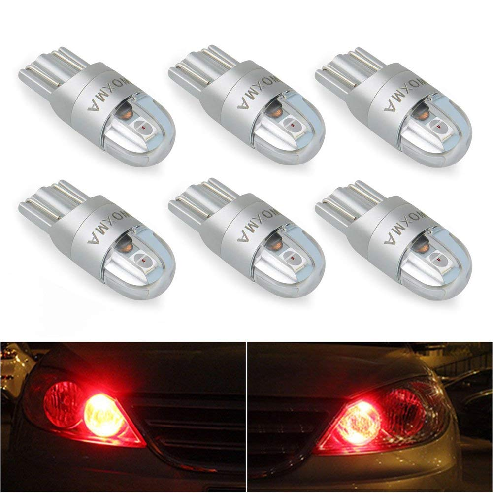 T10 LED Extremely Bright 3030 Chipset 194 168 SMD W5W Turn Signal License Plate Light Trunk Lamp Clearance Lights Reading lamp 12V T10 LED Bulbs(Ice Blue-6pcs