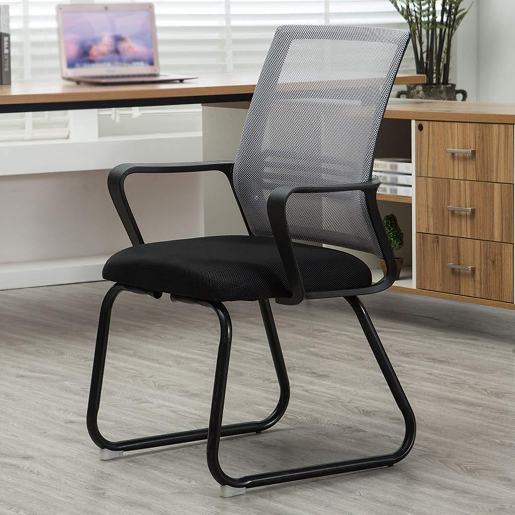 Kontorsstol personalstol mottagningsstol multifunktion andningsbar komfort hushåll lärande stol datorstol GMING (färg: blå) Grått
