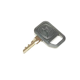 John Deere Ignition Key AM131841 for 160 165 170 175 180 185 240-285 325  335 345 425 445 F Series GT GX Ztrack and Gators