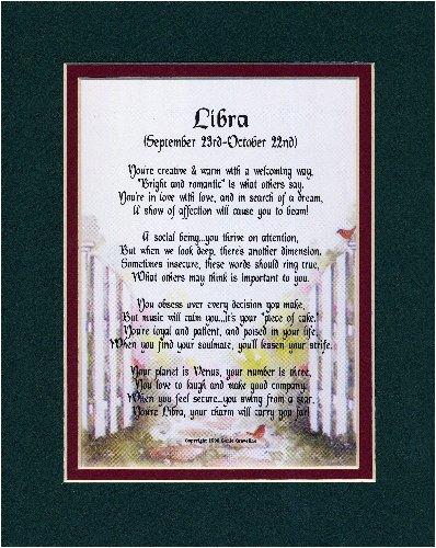 Amazon com: Libra Horoscope Zodiac Poem  Gift Present For 18th 21st
