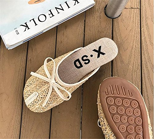 Slides Sandals Womens Sandals Dress Slippers Toe Sandals Mule PRETTYHOMEL Women Yellow Flat for Pointed IqYfCvzx