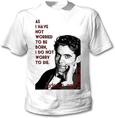 teesquare1st Federico Garcia Lorca Camiseta Blanca para Hombre de Algodon: Amazon.es: Ropa y accesorios