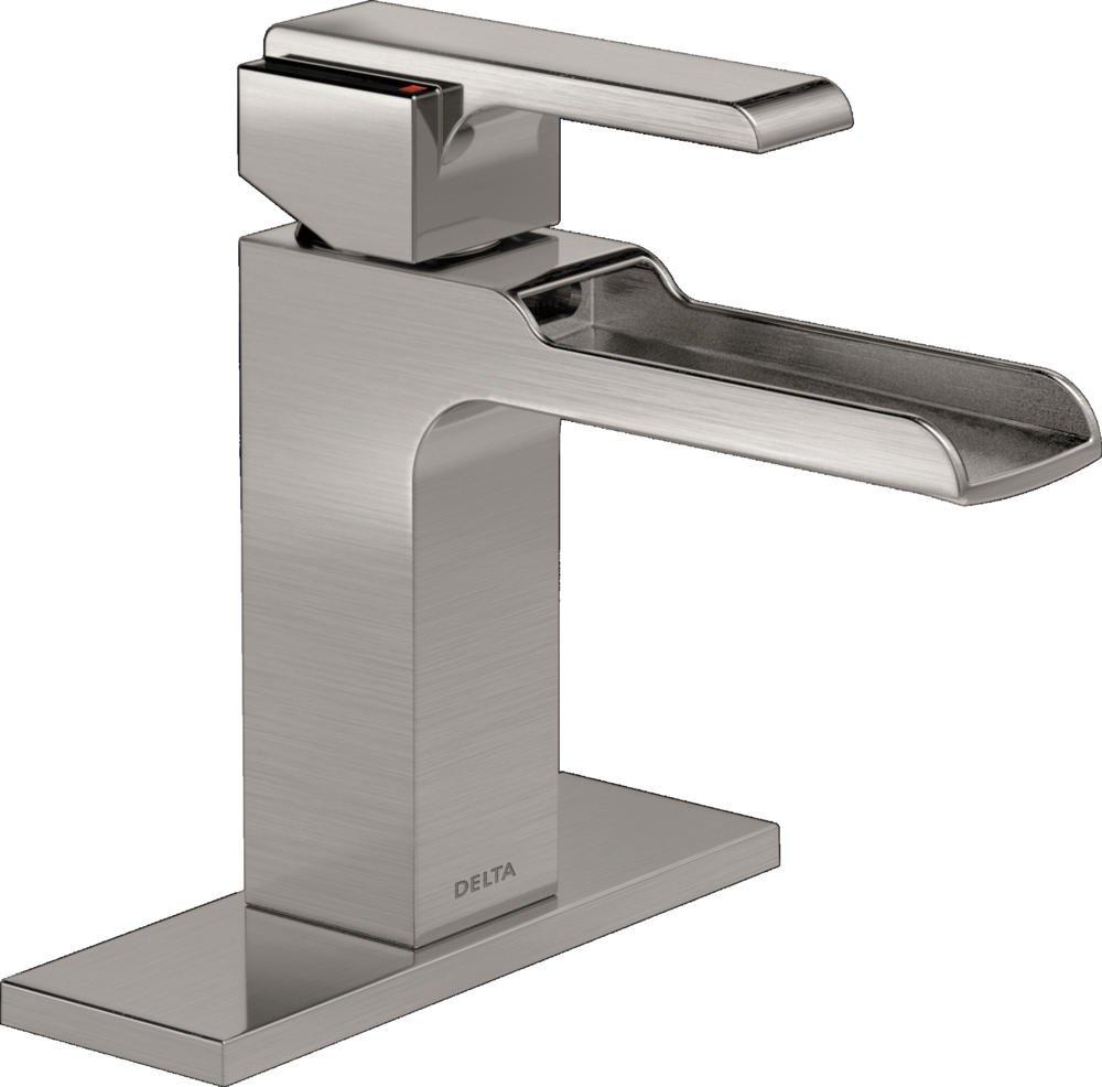 Delta Faucet Ara Single-Handle Waterfall Bathroom Faucet, Stainless 568LF-SSLPU