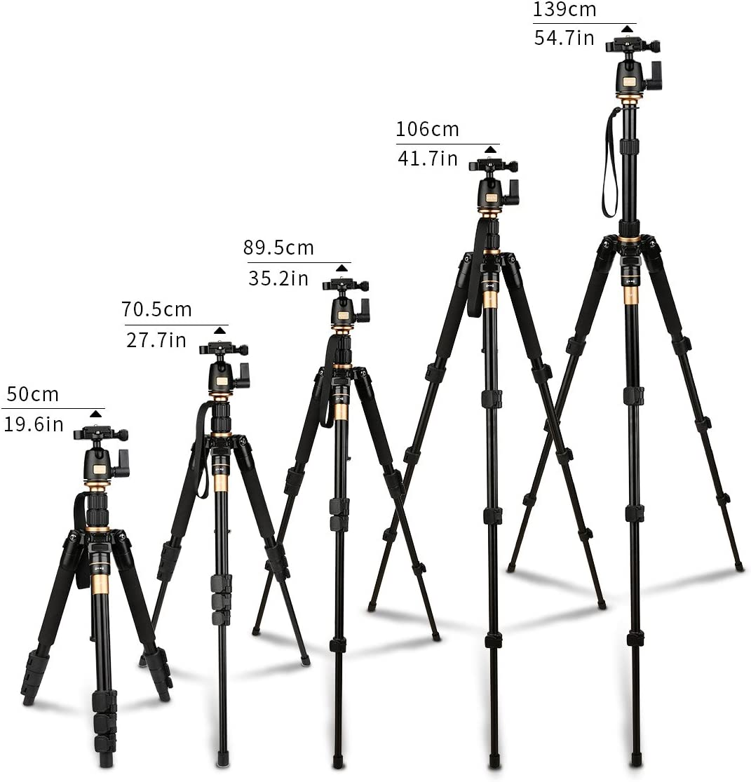 AFAITH Tripod for DSLR Camera, Ultra Compact and Lightweight Aluminum Travel Tripod with 360 Panorama Ball Head Quick Release Plate for Canon, Nikon, Sony, Samsung, Olympus, Panasonic : Camera & Photo