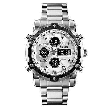 ZHJIUXINGZD Ajustable Reloj para Hombre, Analógico Digital ...