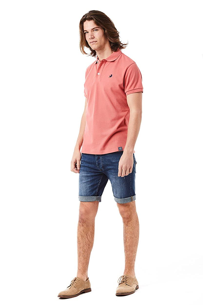 Lois Polo T-Shirt_Pinks/Purple Hombre_Talla_Large: Amazon.es: Ropa ...