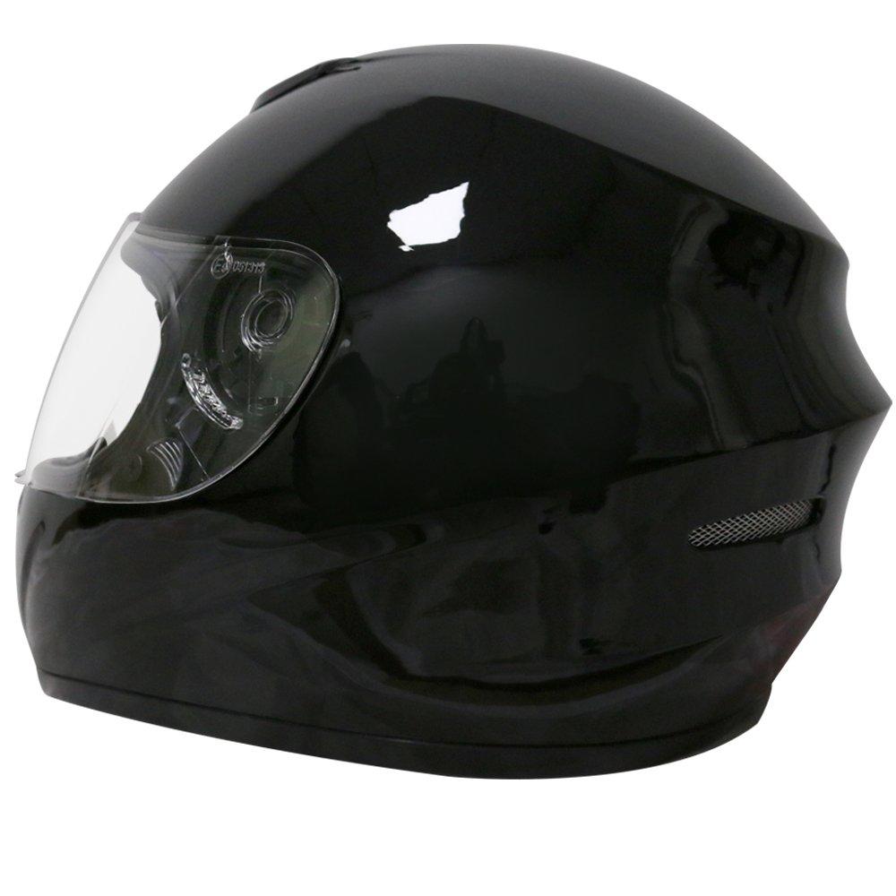 White XL 61-62cm Leopard LEO-819 ECE 2205 Approved Full Face Motorbike Helmet Motorcycle Helmet