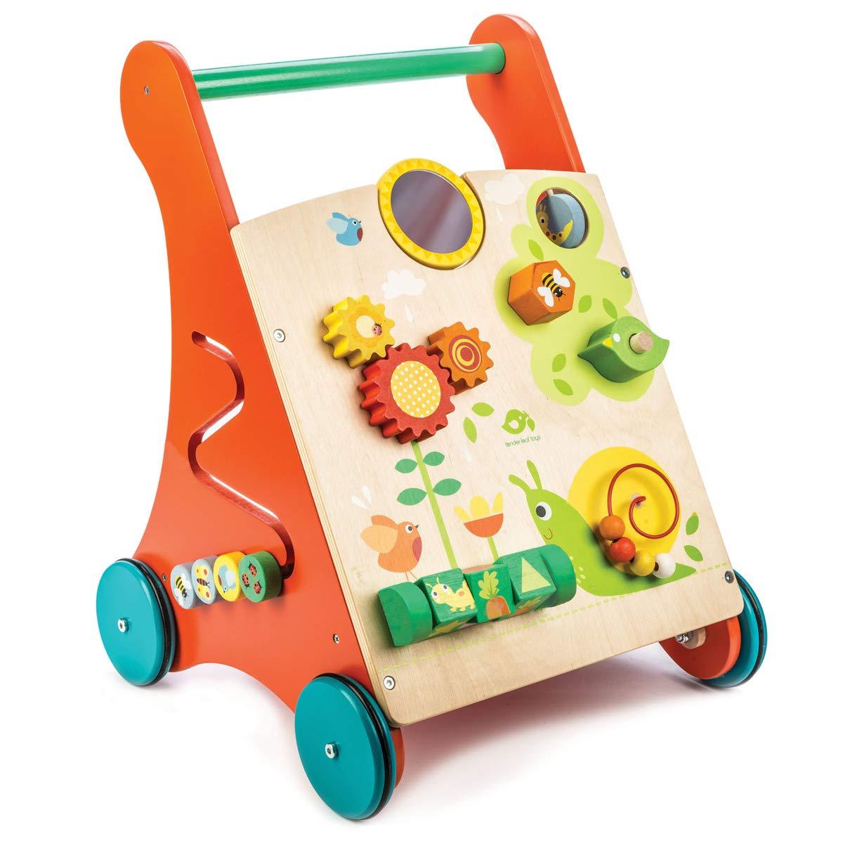 tender オモチャ おもちゃ leaf toys 木製 知育遊び付き手押し車 かわいいイギリスデザインのベビーウォーカー オモチャ つかまり立ち おもちゃ つかまり立ち 赤ちゃん 男の子 女の子 知育玩具 B07C3TXFY7, いい家具ダイレクト:d151778b --- infinnate.ro