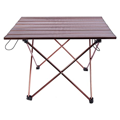 Himal Portable Ultralight Folding Aluminum Table Camping Picnic Roll Up  Table 21.5 X 16