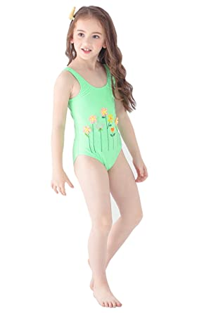 9f5407290b INCIPHER Little Girls' One Piece Swimsuit Beach Bathing Size 2-3 Years Old  Green