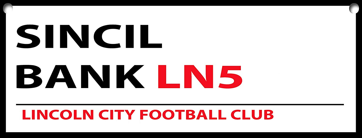 LINCOLN CITY SINCIL BANK METAL STREET SIGN 5 X 7 INCHES.