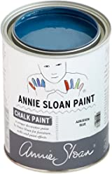 Chalk Paint (R) by Annie Sloan – Decorative Paint for Furniture, cabinets, Floors, Home Decor, and Accessories – Water-Based – Non-Toxic – Matte Finish (Quart - 32oz, Aubusson Blue)