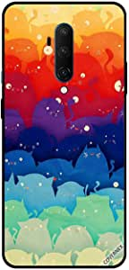 For OnePlus 7T Pro Case Cover Colorful Kittens