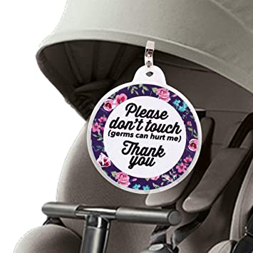 Strollers Accessories Mother & Kids Baby Safety Sign Please Dont Touch For Baby Newborn Stroller Tag Car Seat Sign Shower Gift A Great Variety Of Goods