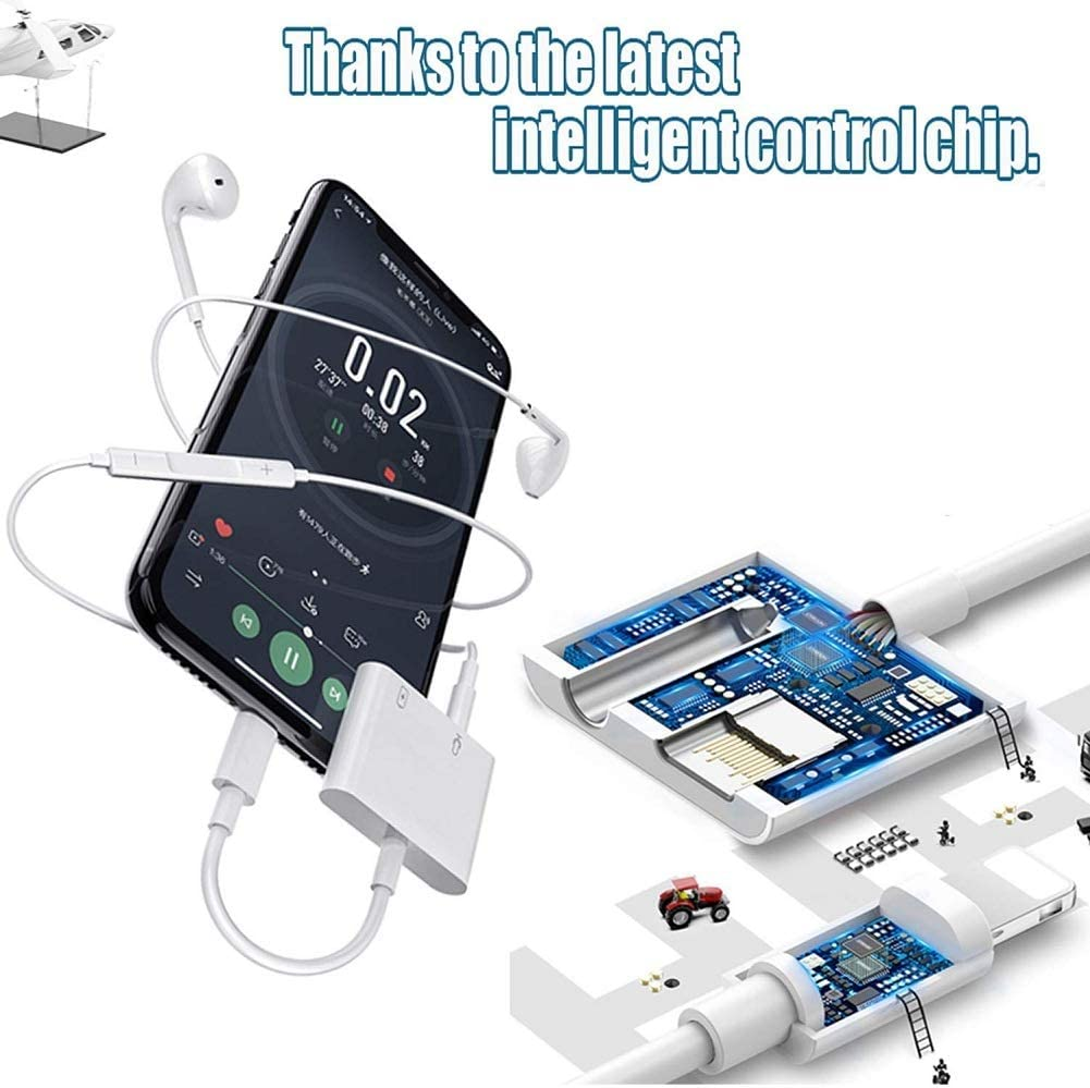 iOS 13 Support Volume Control 2 in 1 Lightning to 3.5mm Headphone Audio /& Charger Cable Compatible iPhone 11//XS//XR//X 8 7 Apple MFi Certified iPad Lightning to 3.5mm Headphone Splitter Calling