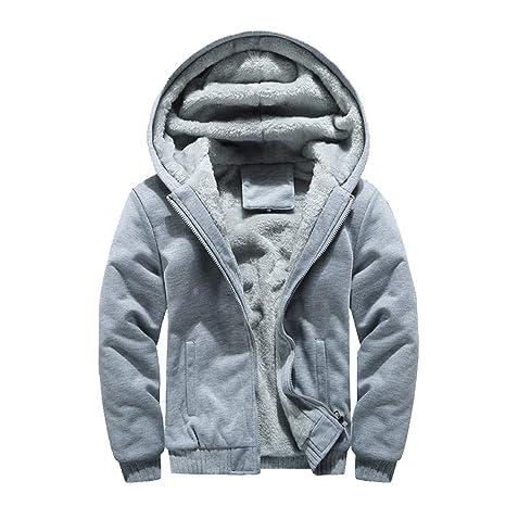 Easy Go Shopping Abrigo de Invierno Abrigo cálido de Lana con Cremallera Suéter Chaqueta Outwear Abrigo