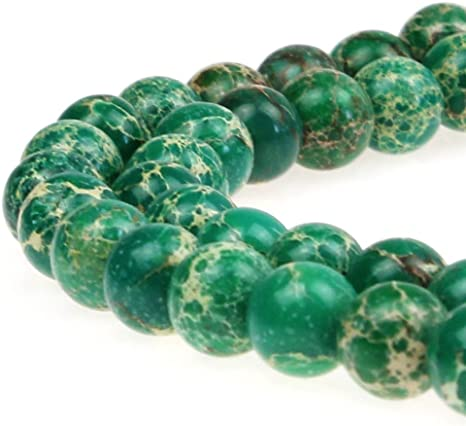 Natural Genuine White Lace Green Zebra Jasper Round Jewellery Loose Beads 8mm