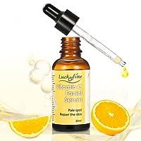 Luckyfine Serum Facial - Vitamina C 20% y Acido Hialuronico + Vitamina E - Anti Manchas, Anti Edad, Anti Arrugas, Hidratante para la Cara