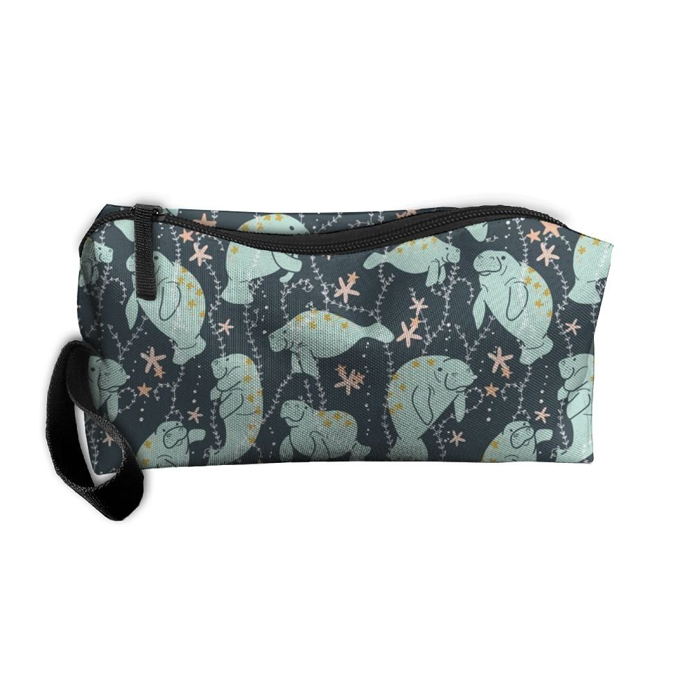 Travel Makeup Manatee Large Cosmetic Pouch Makeup Travel Bag Purse Holiday Gift For Women Or Girls