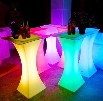 LED Cocktail Table For Party Bar Nightclub Wedding Reception