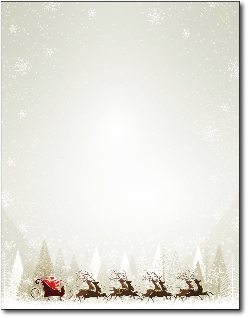 Santa & Reindeer Christmas Paper - 80 Sheets by Desktop Publishing Supplies, Inc.