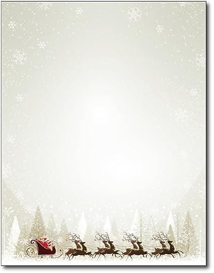 amazon com santa reindeer christmas paper 80 sheets office