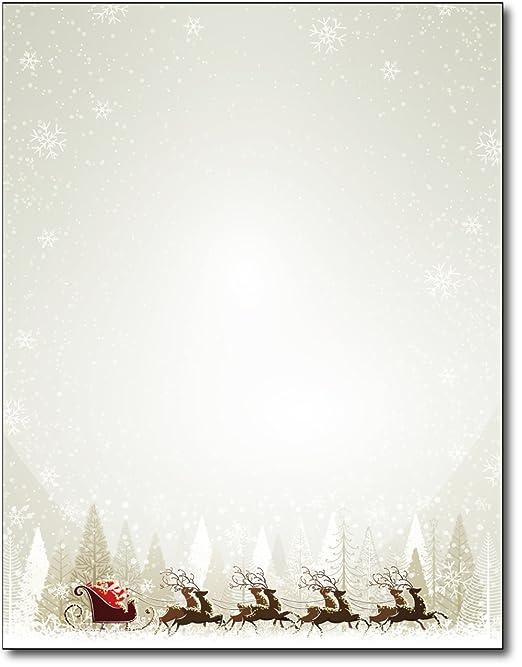 Amazon.com : Santa & Reindeer Christmas Paper - 80 Sheets : Office ...