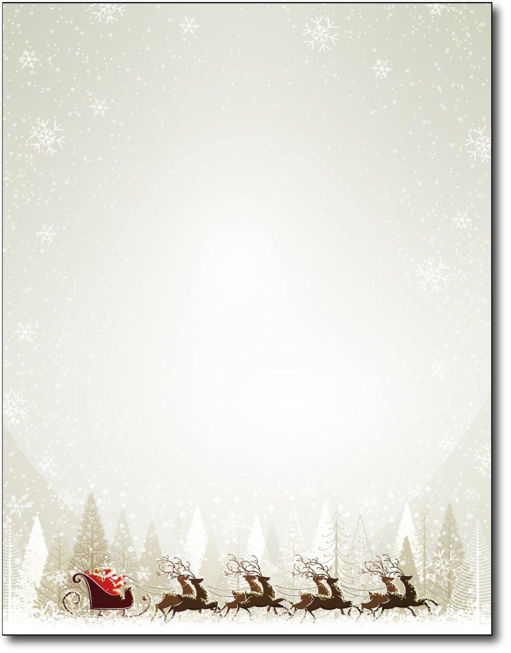 amazon com jolly santa claus stationery 80 sheets health