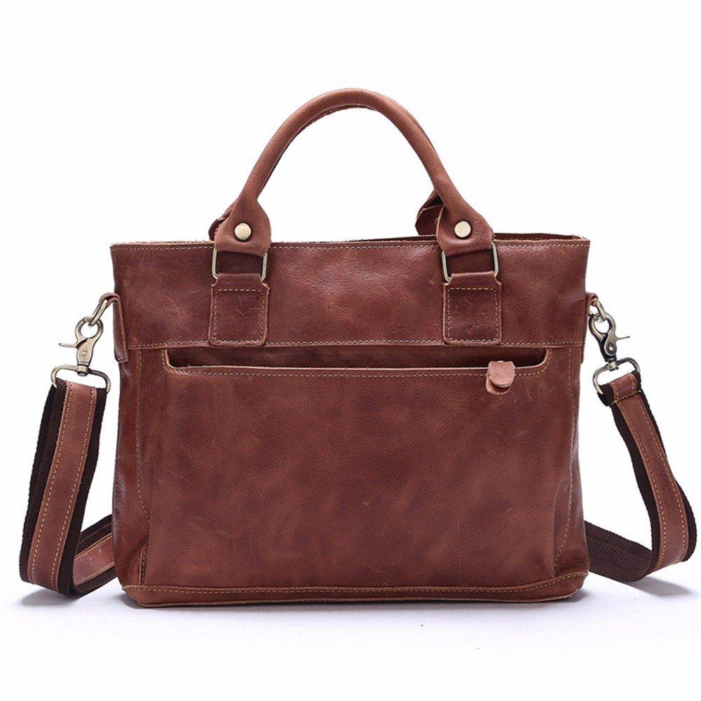 WanJiaHerrenhop Handtasche  Herren Handtasche Leder Handtasche WanJiaHerrenhop Single Umhängetasche Geschäft Freizeitaktivitäten Baotou Schicht Rindsleder Tasche, 33X7.5X28 cm d29e8a