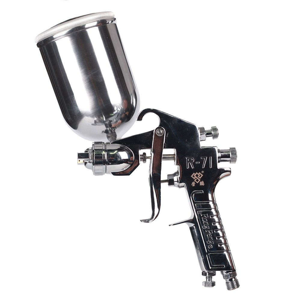 Ouya R71G Spray Gun Gravity Feed Topcoat Paint Sprayer for Furniture/Piano/Car Nozzle Size 1.3mm|400cc Aluminum Cup