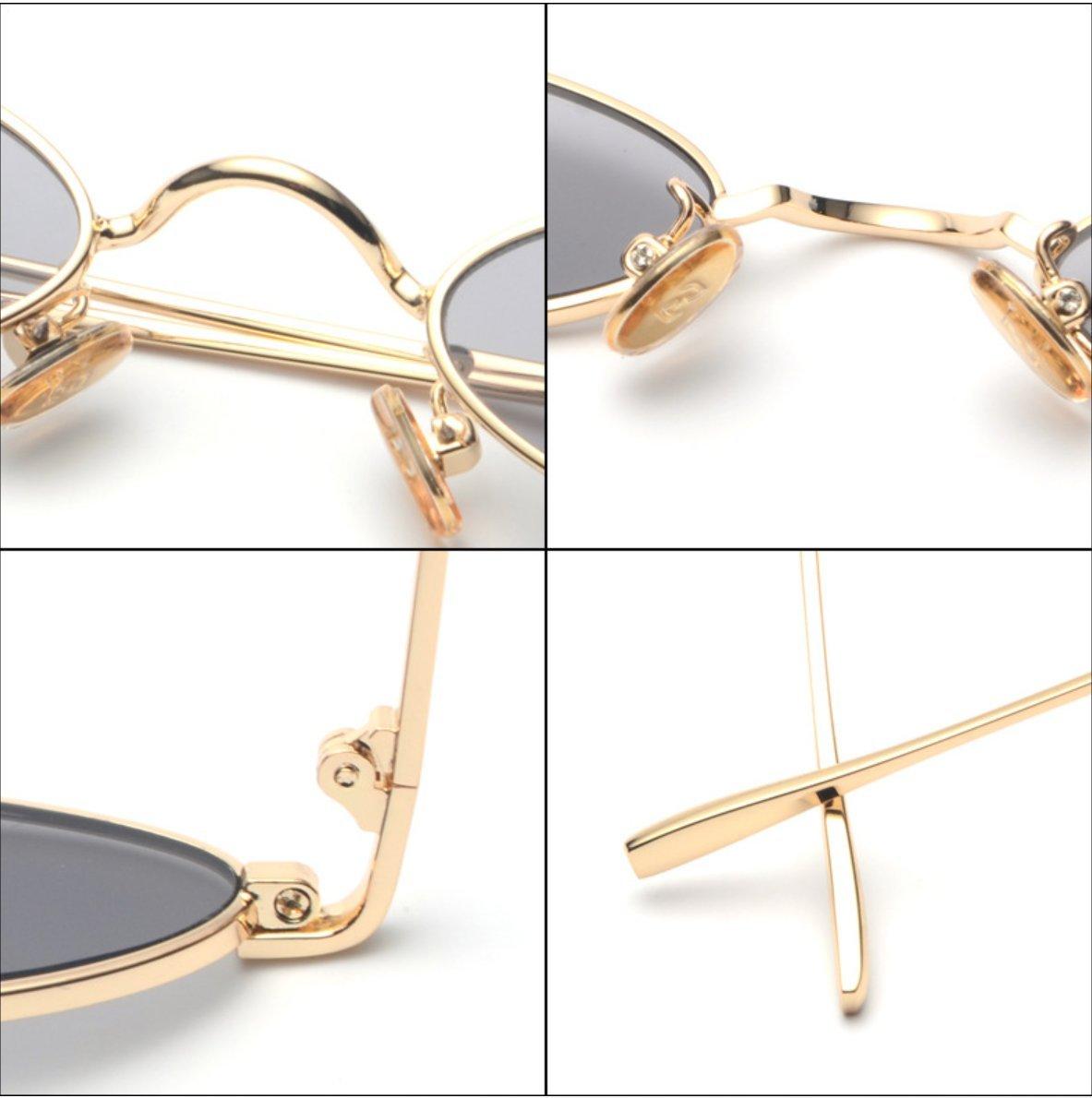 ZHANGYUSEN New Ladies Oval Sunglasses damen damen damen Men Retro Metal Frame Gelb rot Lens Shade Vintage Round Sun Glasses Eyewear Male Uv400 B07D8R7GV3 Sonnenbrillen Macht das Leben 750348