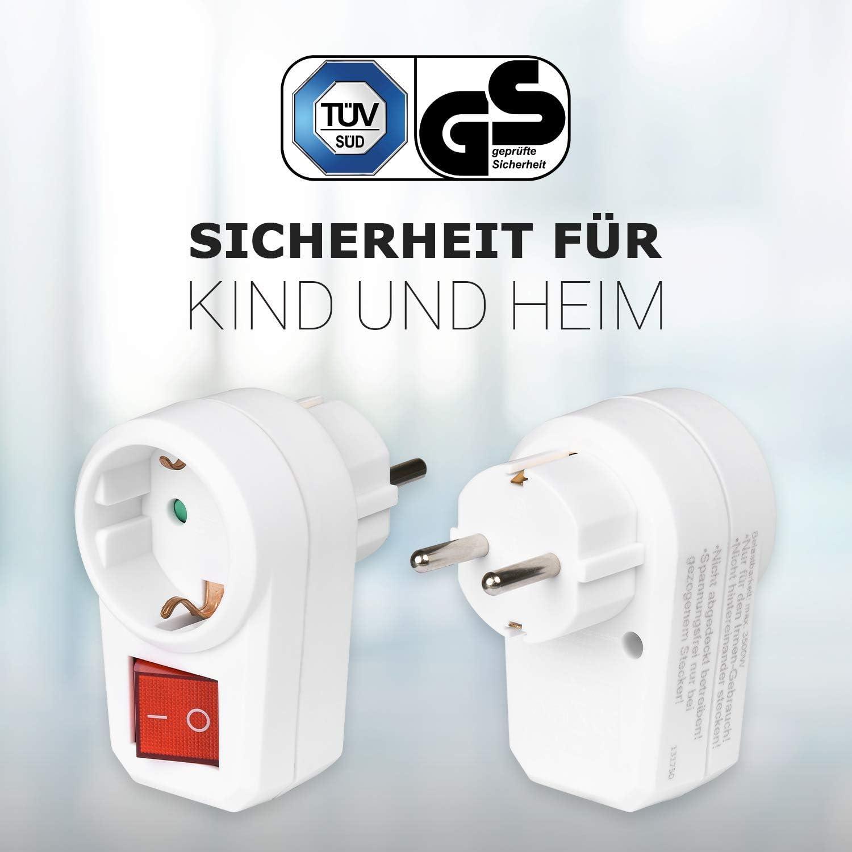 10x HEITECH 2-fach Euro Zwischenstecker