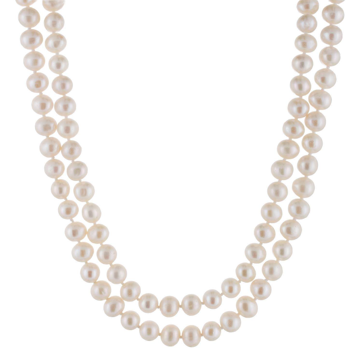 Handpicked A Quality 8-9mm White Freshwater Cultured Pearl Strand Endless 64'' Necklace