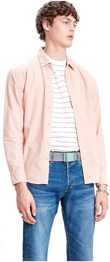 Levis® Battery Slim Camisa de Manga Larga farallon x: Amazon ...