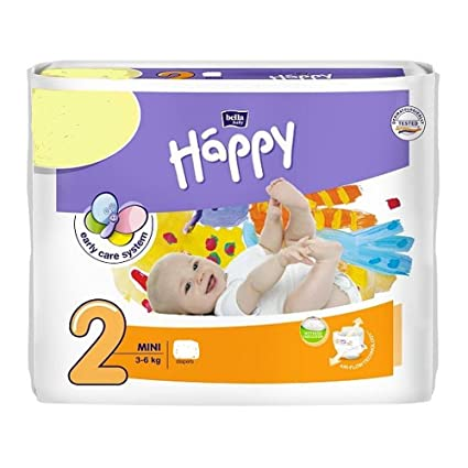 DISEÑO DE MARIPOSAS DE MINI TAMAÑO DE LA BABY HAPPY DE SECO DE 2 3-6KG PAÑALES ...