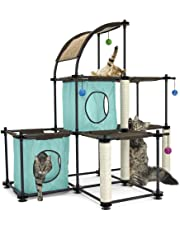 Kitty City Claw Mega Kit Cat Furniture, Cat Tree Collection, Cat Furniture, Toy and Bed, Scratching Post