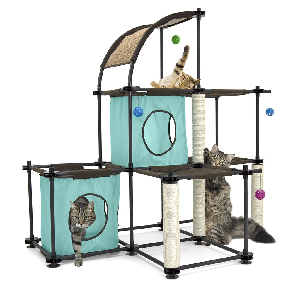 Kitty City Claw Mega Kit Cat Furniture, Cat Feeding Colletion, Cat Condo Collection, Cat Toy, Cat Tree by Kitty City