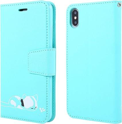 Dclbo Cover per iPhone XS Max, Cover Custodia Case Portafoglio in ...