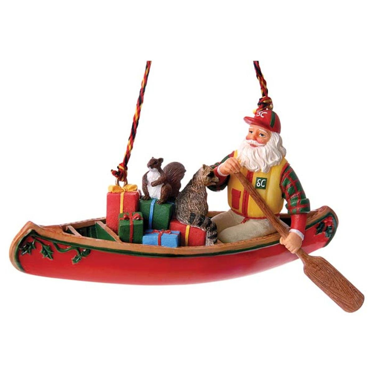 Outside Inside-Canoe Santa Ornament 99581 ATO-GDL-148386