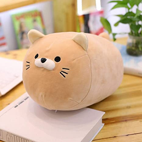 48ea6fa116bc Chubby Fat Cat Plush Pillow Soft Stuffed Animal Play Doll Baby Hugging Toy  Sleeping Bolster Pet